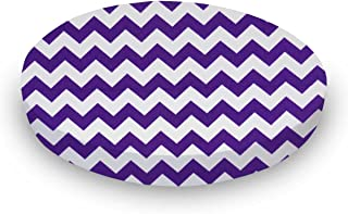 product image for SheetWorld Fitted Oval Crib Sheet (Stokke Sleepi) - Purple Chevron Zigzag - Made In USA