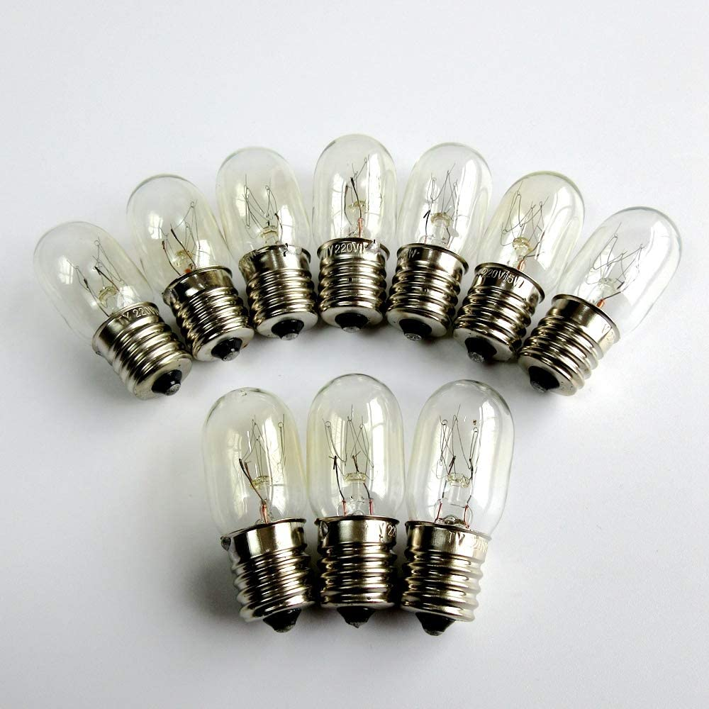 220V 15W E17 macchina da cucire lampadina per Singer 15-30 15-88 15-90 27 frigorifero microonde