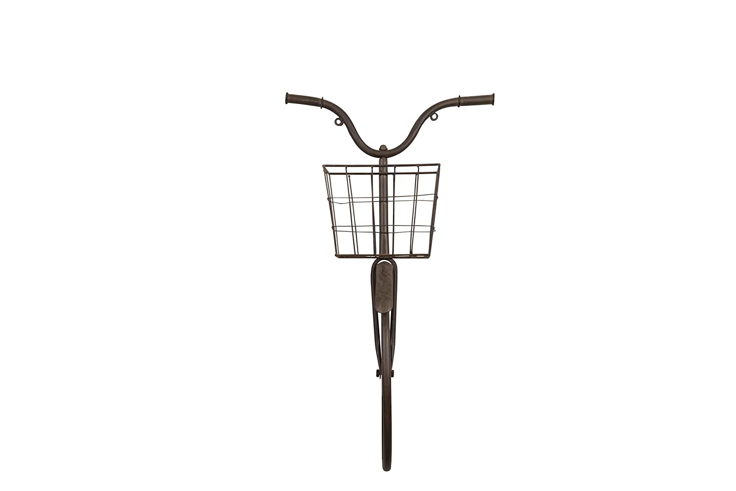 Creative Co-Op Iron Bike Shape Wall Decor with Basket, Rust
