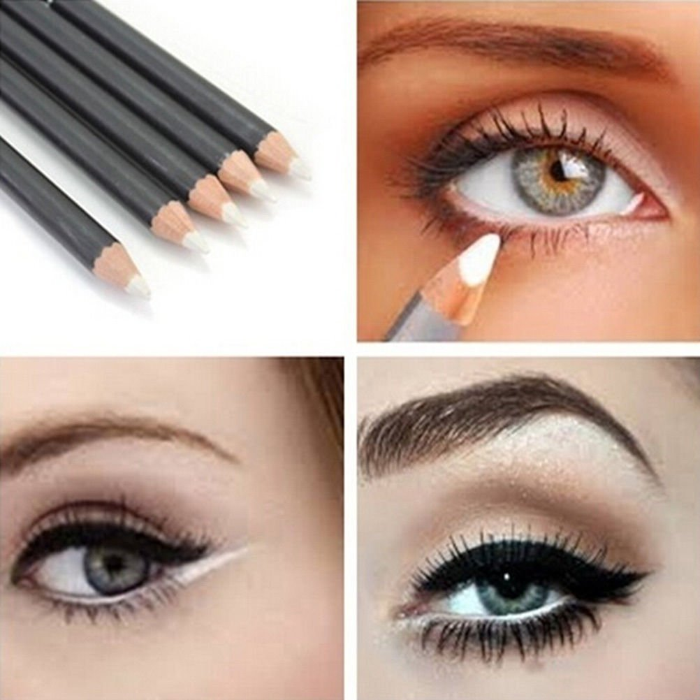 White EyeLiner Pencil Smooth Waterproof Cosmetic Beauty Makeup Eyeliner Pen by Team-Management