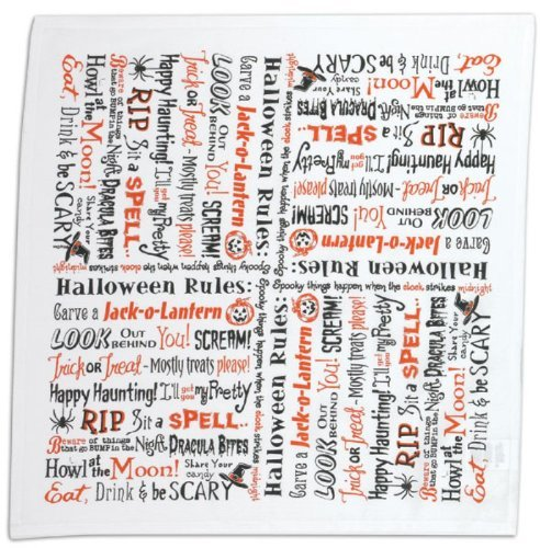 Kay Dee Halloween Rules Scream Be Scary RIP Howl Flour Sack Kitchen Dish Towel