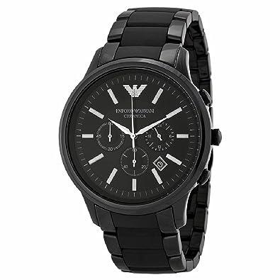 49c7410d34ce Armani Armani Cerámicaa Cronógrafo Negro Dial Negro Cerámica Mens Reloj  AR1451  goldia  Amazon.es  Joyería