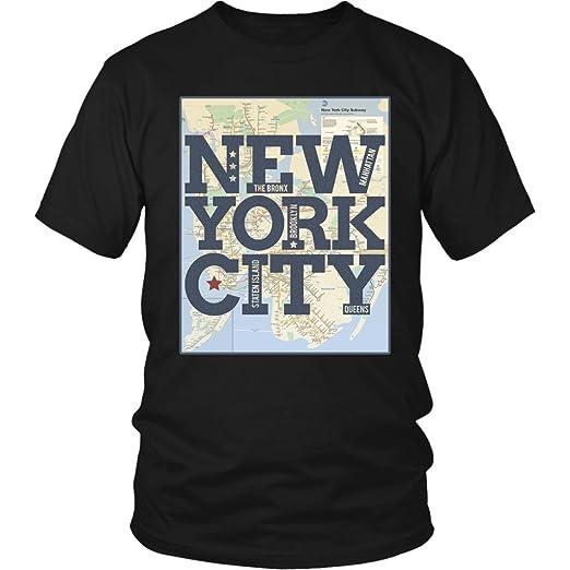 Nyc Subway Map Tshirt.New York City Five Boroughs Subway Map Fashion T Shirt Amazon Com