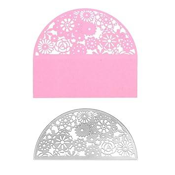 ULTNICE Troqueles troqueles de corte plantilla de estampado de metal bricolaje para álbum Tarjeta de papel Scrapbooking (flores de colores): Amazon.es: ...