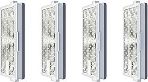 Fette Filter - 4 Vacuum HEPA Filters Compatible with Miele SF-HA 50. for Use with Miele S4, S5, S6, S8, S8000, S8999, S6000, S6999, S5000, S5999, S4000, S4999, Complete C2 & C3 Compact C1 &C2