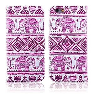 ABC(TM) Fashion Fresh Cute Elephant Pattern Wallet Leather Case for Iphone 6 Plus 5.5