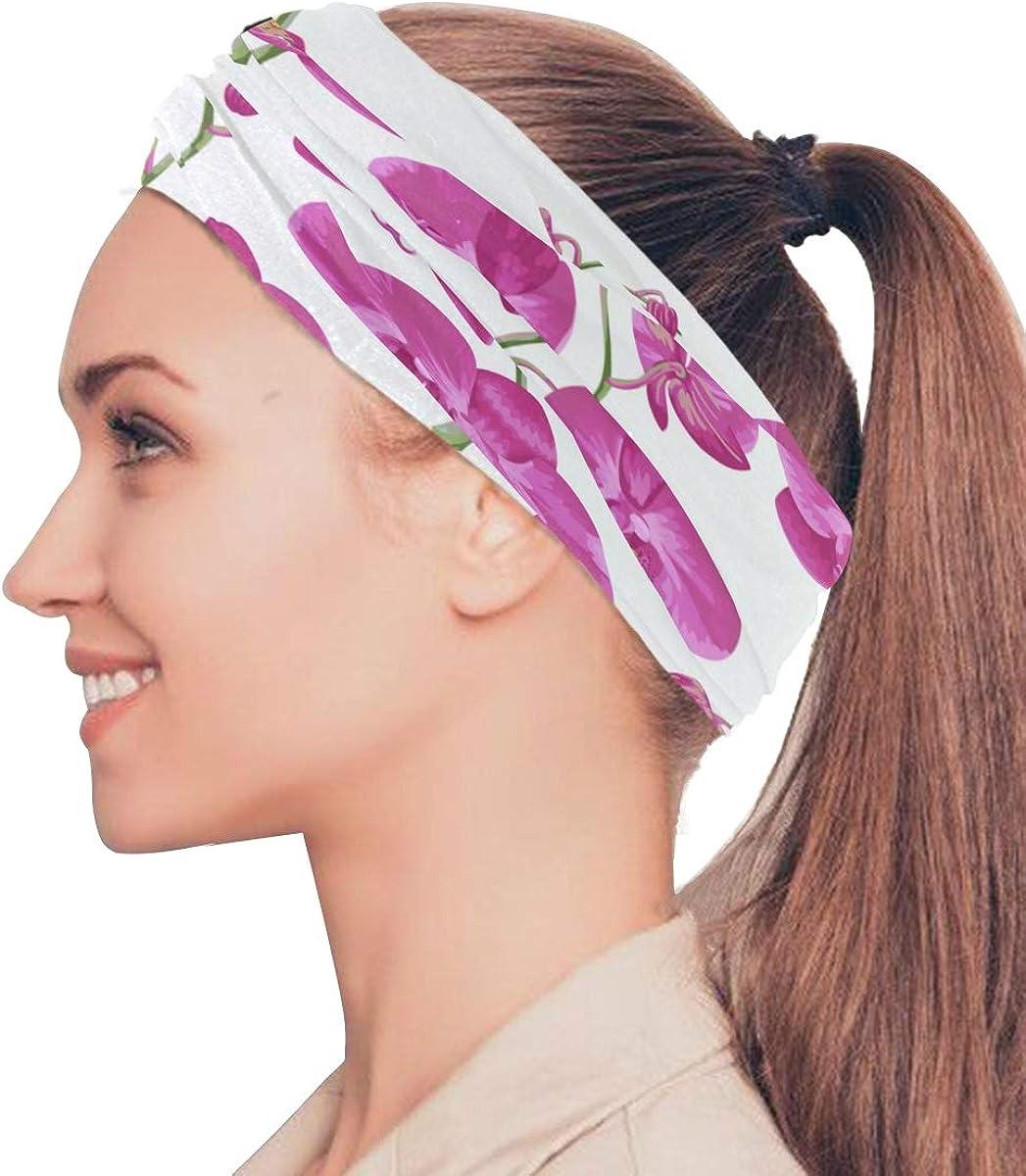 PRETTY FLORAL PINK AND PURPLE HEADWRAP HAIR WRAP BANDANA LADIES GIRLS NEW