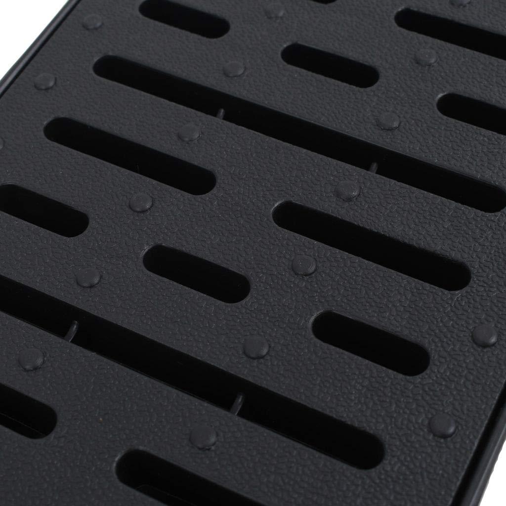 vidaXL 6x Entwässerungsrinne Set Kunststoff 6m Kunststoffrost Bodenrinne