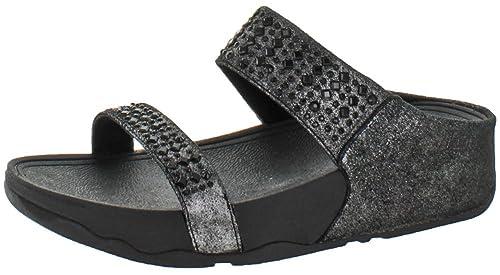 Visitar Comprar Barato 2018 Más Reciente Fitflop Novy Slide Sandali da Donna amazon-shoes neri Comprar Tienda Barata TIYyMpF