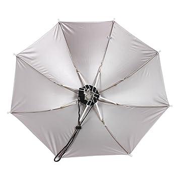 Amazon.com : eDealMax 16.1 Largo Manos libres Borgoña paraguas Sombrero w Cuello de Gaza : Sports & Outdoors
