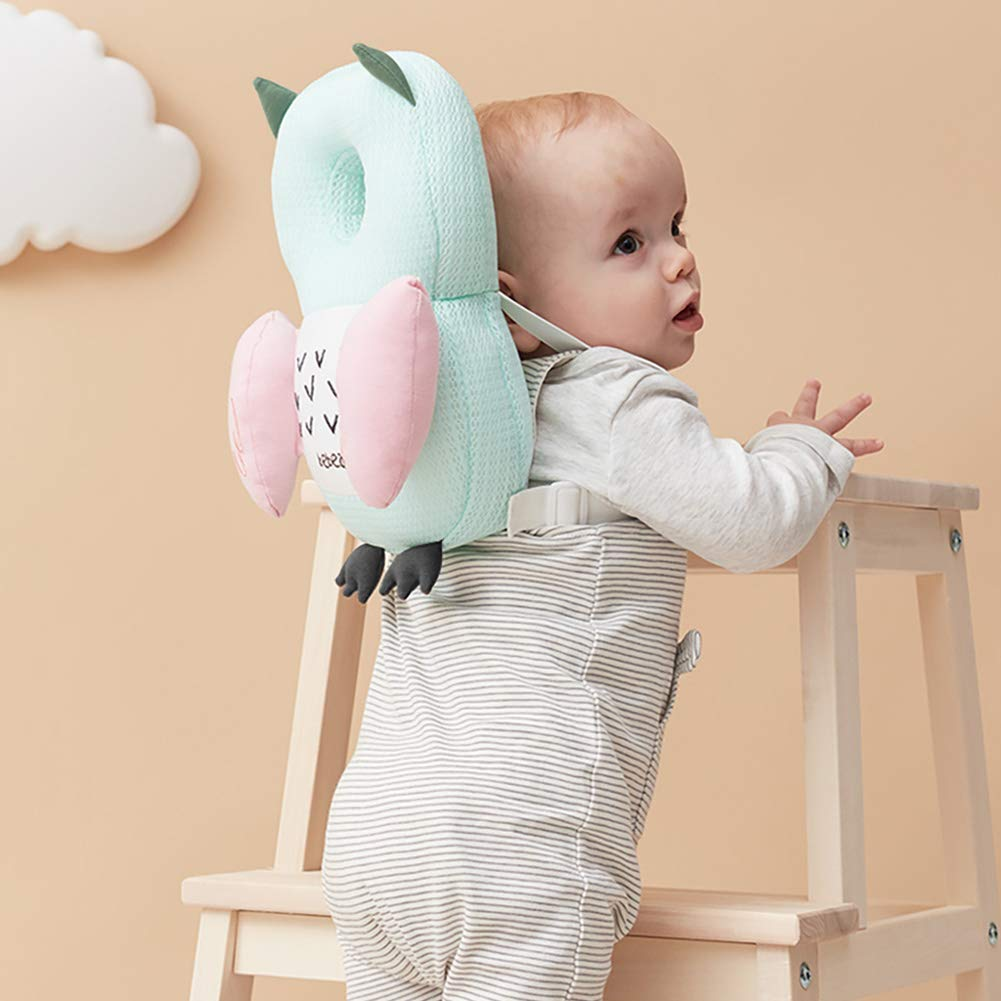 Bebamour Baby Pillow Anti-collision Hat Infant Anti-fall Headrest Head Protection Pad Back Support Pillows beige