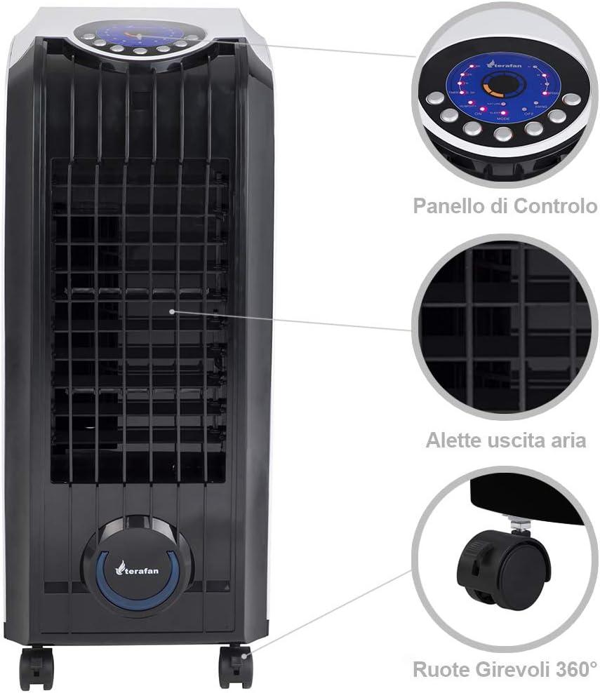 display a LED 3 livelli di velocit/à Boomersun Raffreddatore ad aria mobile da 7 litri con 4 modalit/à operative Condizionatore daria con raffreddamento ad acqua telecomando