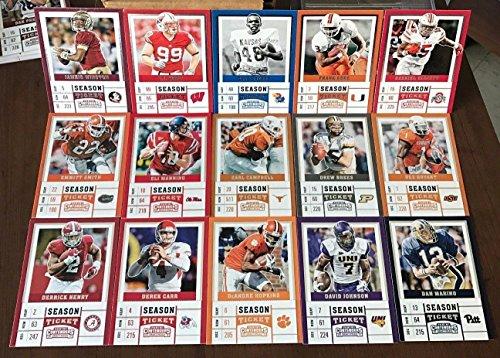Boys Football Themed Birthday Party Favor Set of 100 Football Stars College Draft Picks Cards with Tom Brady, Aaron Rodgers, Dak Prescott, Ezekiel Elliott, Carson Wentz by Party Favors (Image #1)