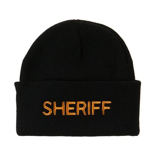 4597c54f495 e4Hats.com Military Embroidered Beanie - Sheriff OSFM at Amazon ...