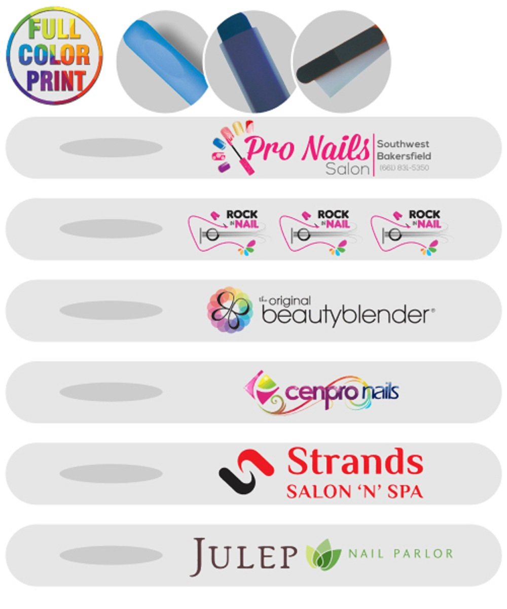 50 Personalized Plastic Nail File Printed with Your Logo or Message in Full Color