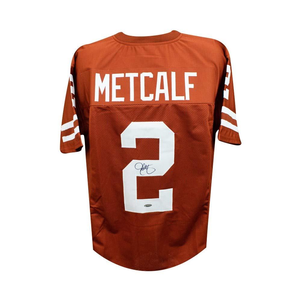 huge discount fc7c8 8a77f Eric Metcalf Autographed Texas Longhorns Custom Football ...