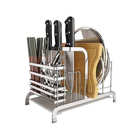 WJP Porta cuchillos de acero inoxidable Estante de cocina ...