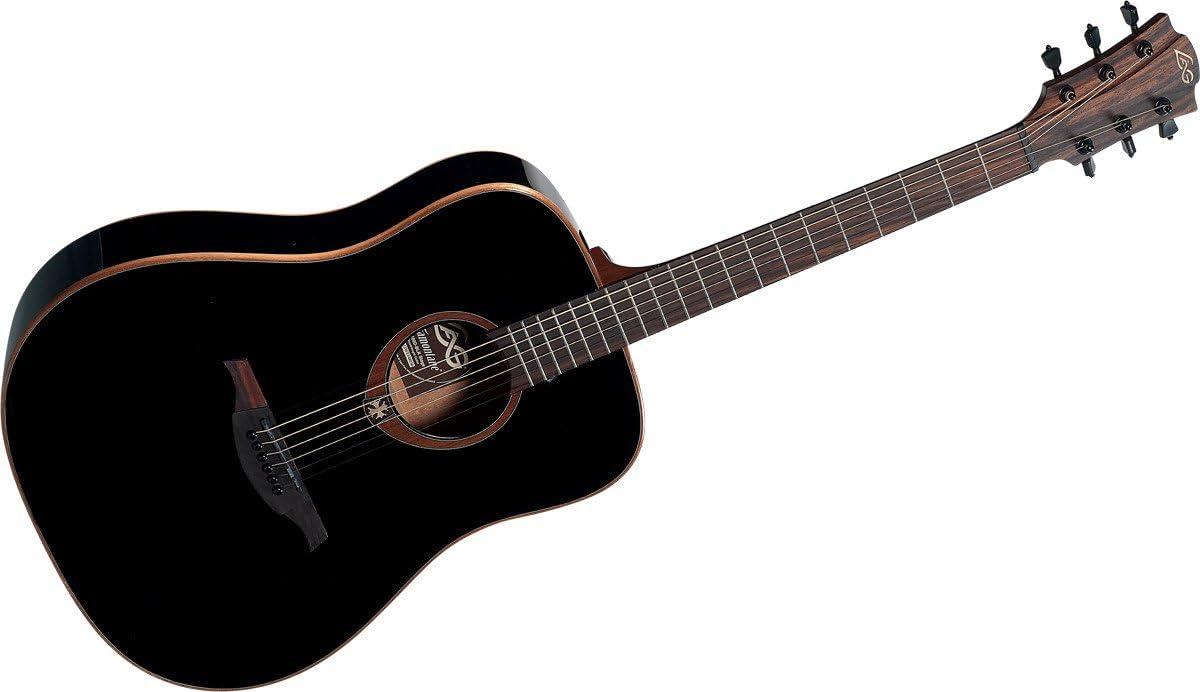 Guitares acústicas LAG T100D BLACK Folk