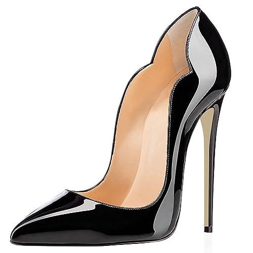 reputable site 8a1ef 9112b Amazon.com   Eldof Women High Heels Pumps   Pointed Toe Cut ...