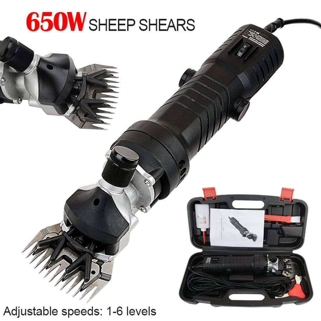 MAOFALZZNA 650W Sheep Shearing Machinesheep 650W Electric Farm Supplies Sheep Goat Shears Animal Grooming Shearing Clipper