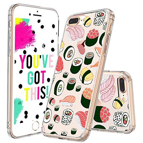 MOSNOVO iPhone 7 Plus Case, iPhone 8 Plus Case, Cute Sushi Design ...