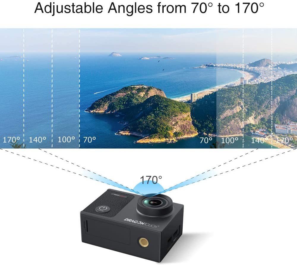 best action camera features - Dragon Touch