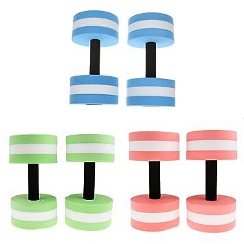 monkeyjack 3 pares agua mancuernas de aeróbic tamaño mediano EVA espuma pesas acuáticas piscina Aqua Fitness equipo de entrenamiento: Amazon.es: Deportes y ...