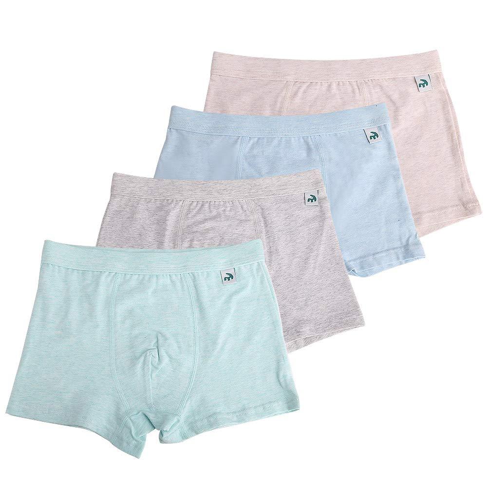 KiMiSUGOi Boy's Briefs Boxer of 4 Comfortable Cotton Underwear