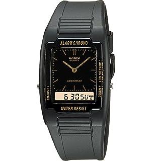 Casio - Reloj Analógico-Digital de Cuarzo para Hombre, correa de Goma color Negro