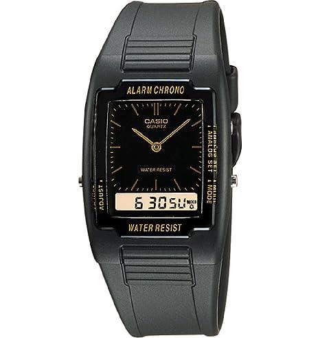 Casio - Reloj Analógico-Digital de Cuarzo para Hombre, correa de Goma color Negro: Amazon.es: Relojes