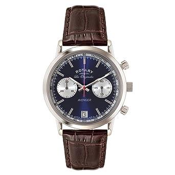 Rotary GS90130/05 - Reloj de Pulsera Hombre, Piel, Color marrón: Amazon.es: Relojes