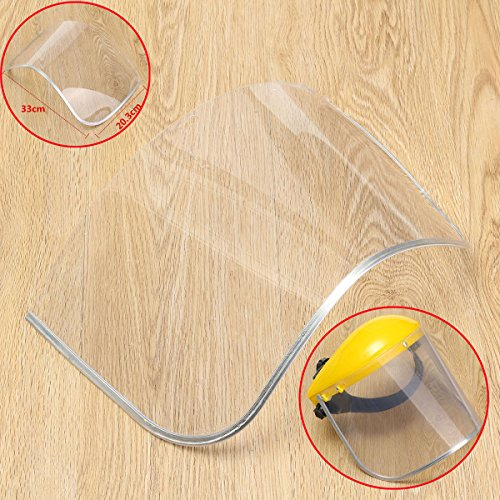 Clear Safety Grinding Face Shield Screen Spare Visors Eye Protection Workwear - Safety & Protective Gear Masks - 1 × Face Shield Screen(Not included Mask)