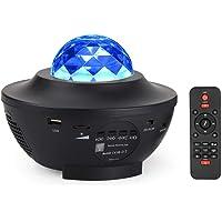 Dalanpa LED Star Projector Lights Ocean Wave Projector Nachtlampje met ingebouwde muziekluidspreker en afstandsbediening…