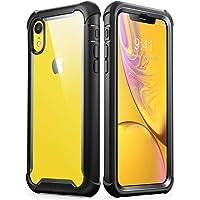 i-Blason,   iPhone 2018-6.1-Ares-Black, Funda XR Para iPhone [Ares], Funda Trasera Dura con Tapa Transparente y Protector de Pantalla Integrado Para Apple XR, Negro, 6.1 Pulgadas, 2018