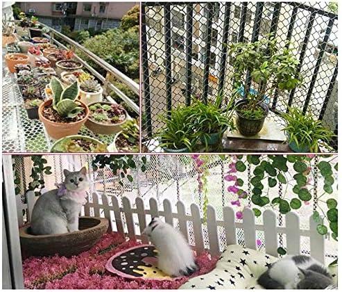 XXN Red de Plástico Faisán,Balcón para Mascotas Jardín Cerco Plantas Y Redes de Protección de