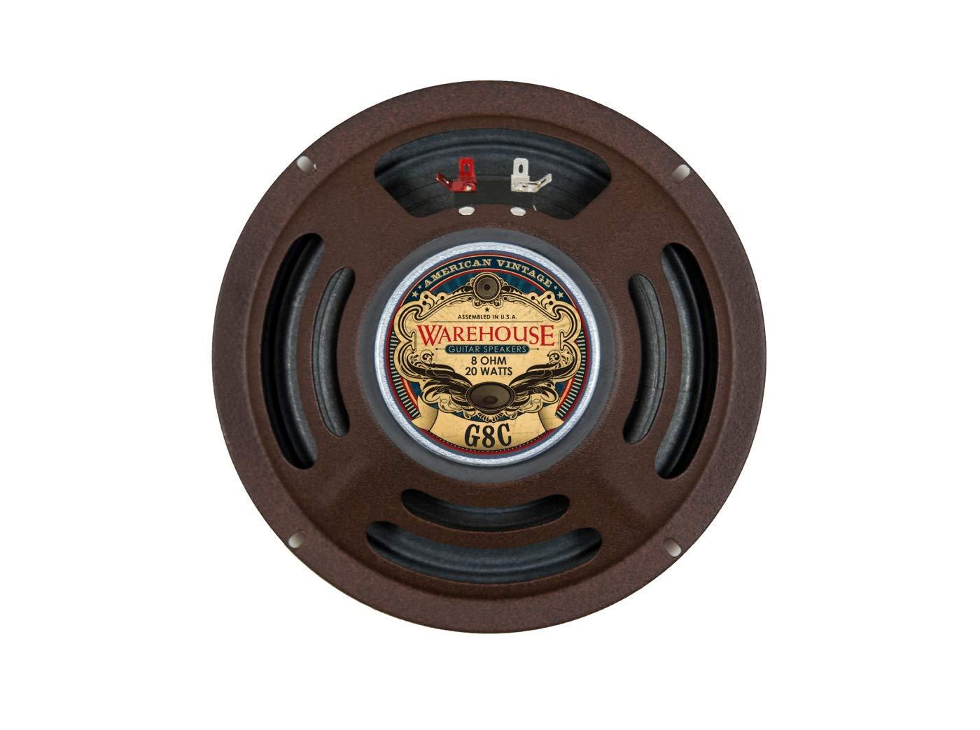 Warehouse Guitar Speakers G8C 8'' 20W American Vintage Guitar Speaker 4 ohms by Warehouse Guitar Speakers