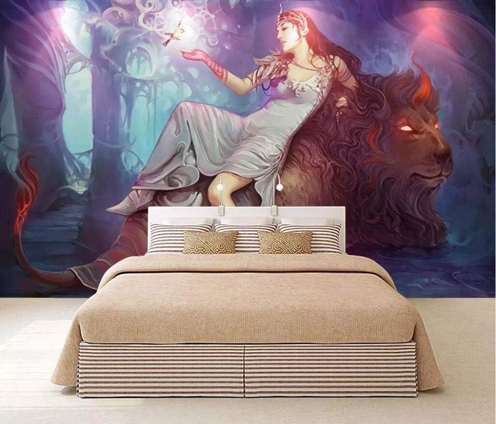Wall Mural 3d European Dream Hand Painted Beauty Beast Custom