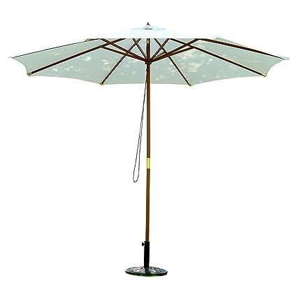 Amazon Com Outsunny 9 Wooden Outdoor Patio Market Umbrella Off
