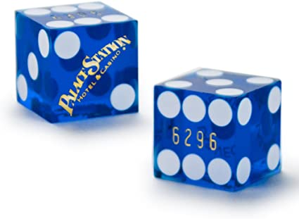 Authentic Cancelled 19mm Casino Dice Used at Linq Casino Pair of 2