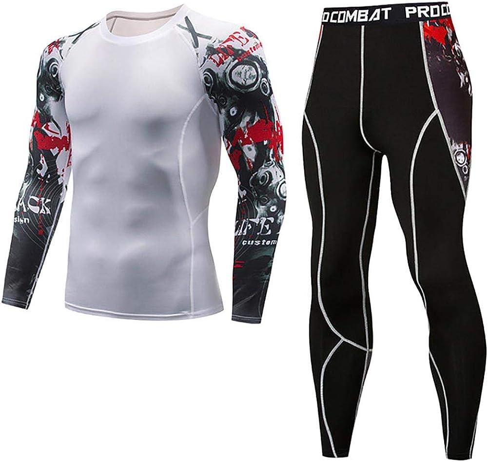 ZWPY 3Pcs Herren Kompression Set Leggings Fitness Laufhose Funktionsshirt Gym Training Jogging Kurze Hose Fitness Bekleidungsset