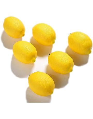 JUSTOYOU - 6 limones artificiales ideales para la decoración del hogar, fiestas y escaparates