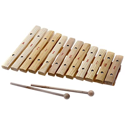 D'Luca XL12A 12 Notes Wood Xylophone with Music Cards: Musical Instruments