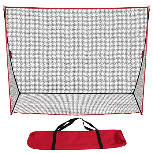 BBBuy 5 x5 7 x7 10 x 7 Portable Baseball Net,Softball Outdoor Sports Training Net w Carry Bag, Metal Frame,Ground Stakes,for Batting Hitting and Pitching Practice