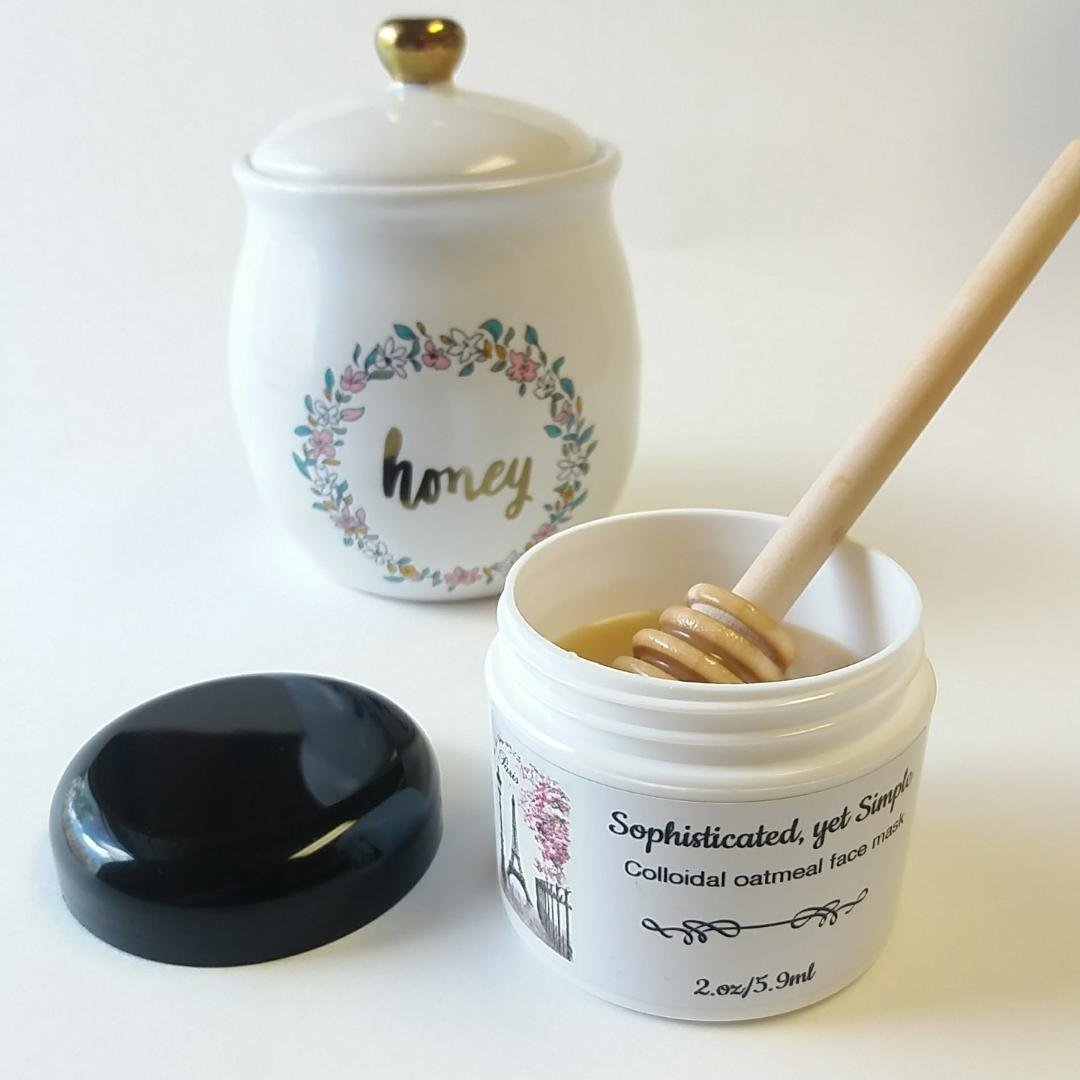 Colloidal oatmeal face mask, Organic raw honey, 2.OZ, face treatment, face mask, Treatments & masks