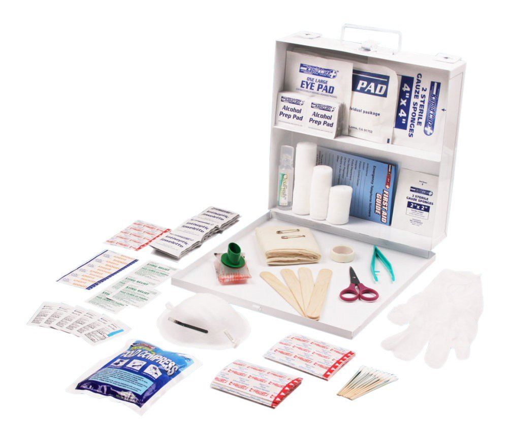 Rapid Care First Aid RC-25MAN-M 25 person 166 Piece ANSI/OSHA Compliant First Aid Kit in Wall Mountable Metal Case Inc.