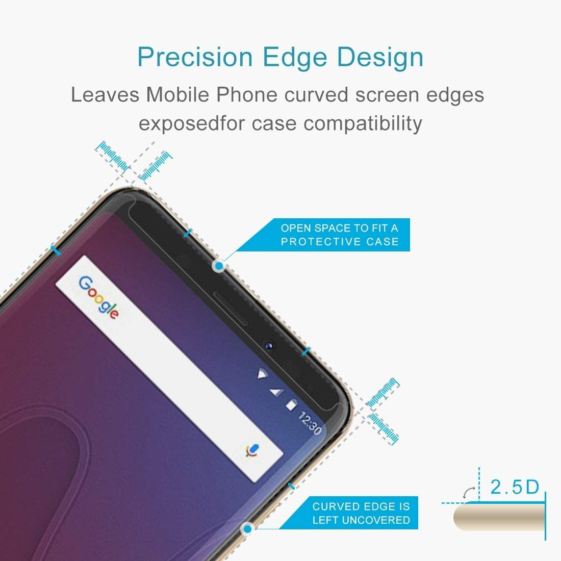 ZYS Screen Protector 100 PCS for Wiko View 0.26mm 9H Surface Hardness 2.5D Curved Edge Tempered Glass Front Screen Protector