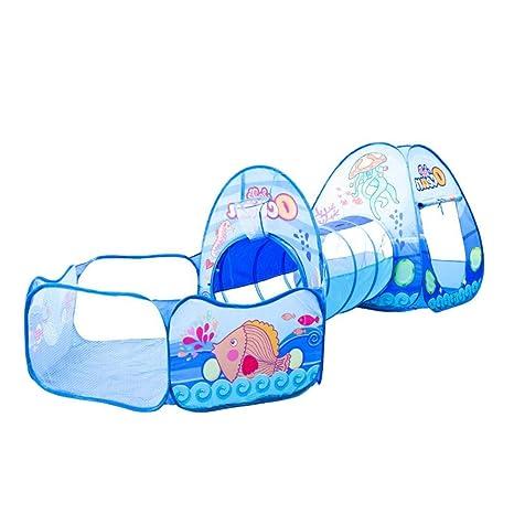 MapleHome Juego de niños casa de Dibujos Animados Tienda de campaña Tres en uno bebé gateando