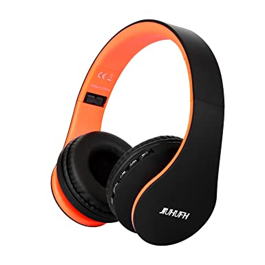 JIUHUFH Auriculares Inalámbricos por Encima del oído Auriculares Bluetooth con Micrófono Incorporado para PC/Teléfonos