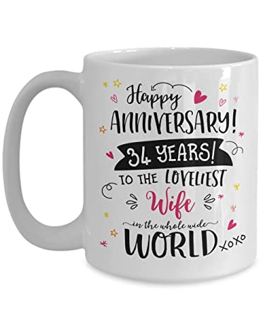 Amazon 34th Wedding Anniversary Gifts For Her Loveliest Wife