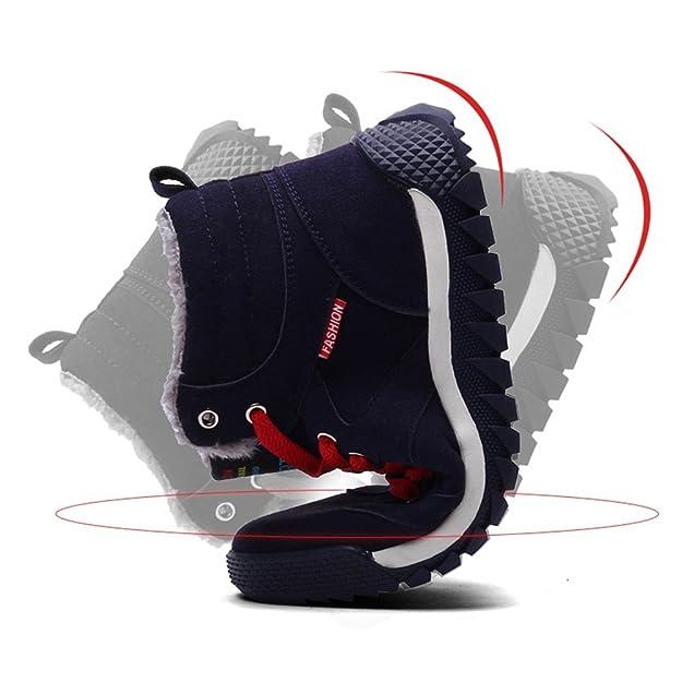 31c7665d50bd JACKSHIBO Herren Warm Gefütterte Winterstiefel Schneestiefel Outdoor Hohe  Sneaker  Amazon.de  Schuhe   Handtaschen